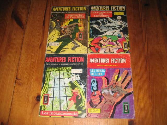 lot 4 petits formats AVENTURES FICTION aredit artima comics pocket dc années 70 20 Cézy (89)