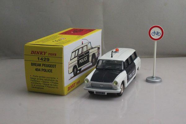 Peugeot 404 Break Police 1/43 Dinky 1429 Atlas Neuf Boite 33 Guînes (62)
