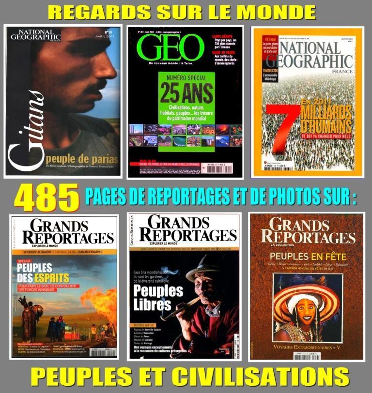 PEUPLES - géo - CIVILISATIONS 18 Lyon 8 (69)