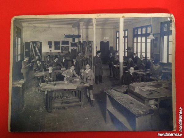 Photo ancienne Ecole atelier menuiserie 1930 19 Nice (06)
