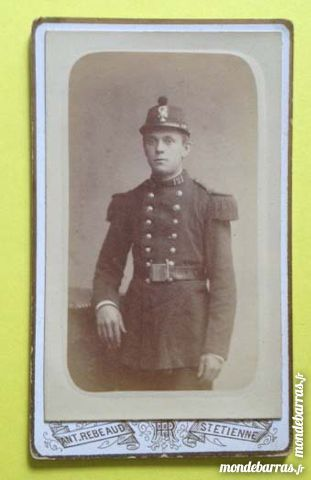 CDV Photo militaire - Ant.Rebeaud - St Etienne 5 Nice (06)