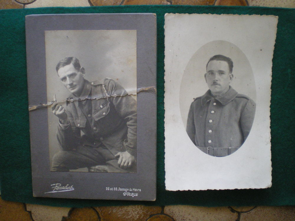 Photographie et carte postale militaire. 1 Caen (14)