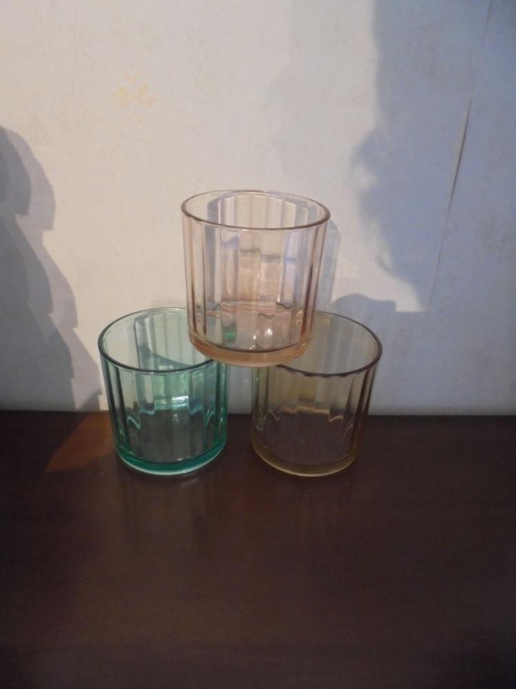 Lot de 3 photophores couleurs (30) Décoration