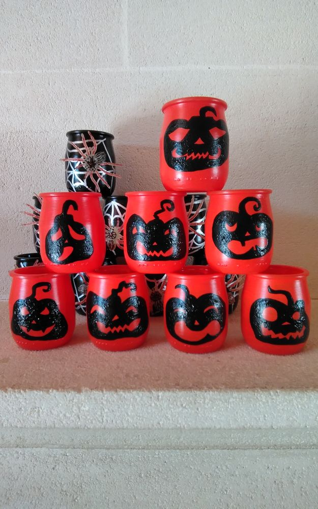 Lot photophores Halloween bougeoirs citrouilles 10 Bruges (33)