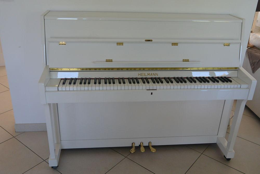 Piano blanc d'étude, de marque HEILMANN Instruments de musique