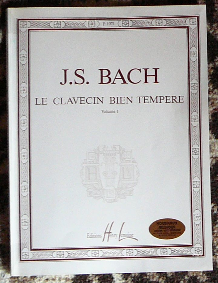 [piano] Le clavecin bien tempéré n°1, Bach, éd. Lemoine 15 Lens (62)