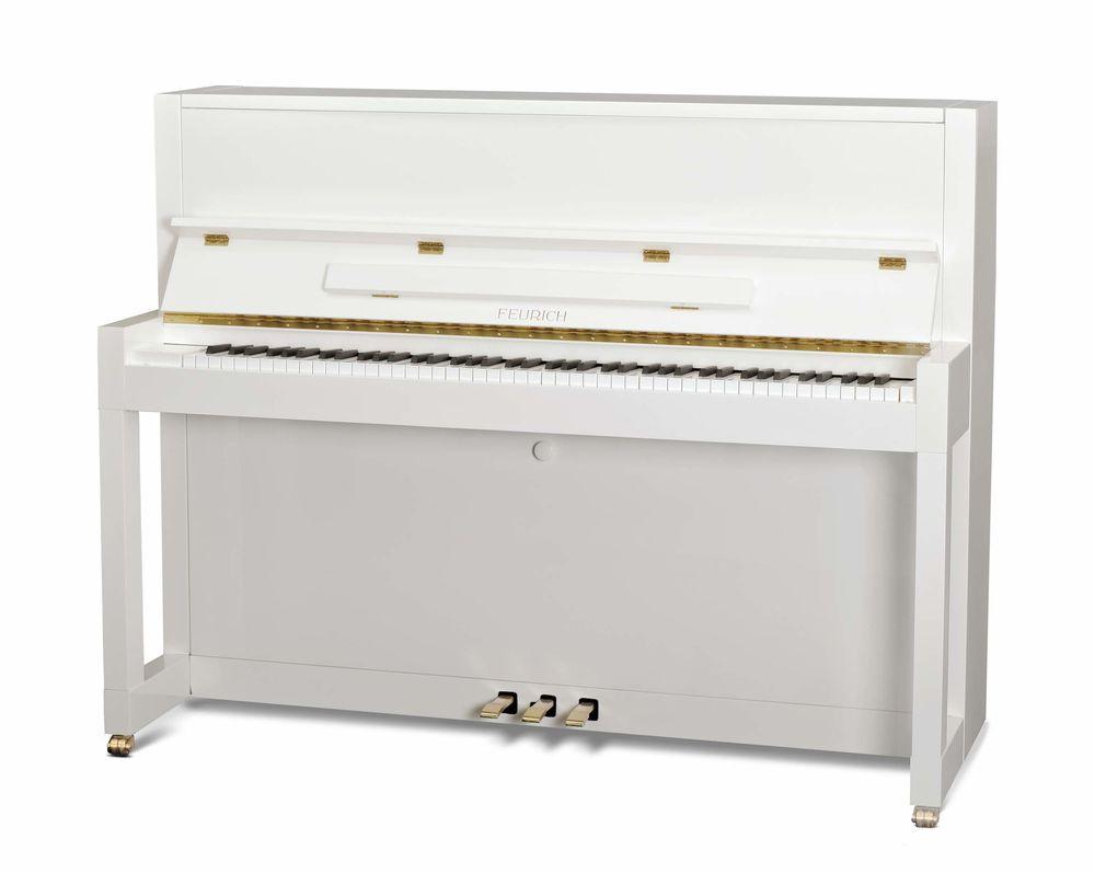 Piano droit Feurich 115 Première Blanc Instruments de musique