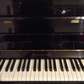 PIANO droit noir de marque SCHULMANN 1200 Nice (06)