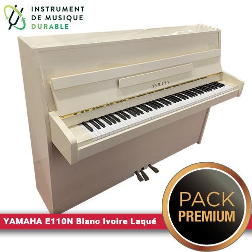 Piano droit YAMAHA - E110N Blanc Ivoire Laqué  PACK PREMIUM INCLUS  3490 Levallois-Perret (92)
