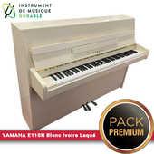Piano droit YAMAHA - E110N Blanc Ivoire Laqué |PACK PREMIUM INCLUS| 3490 Levallois-Perret (92)
