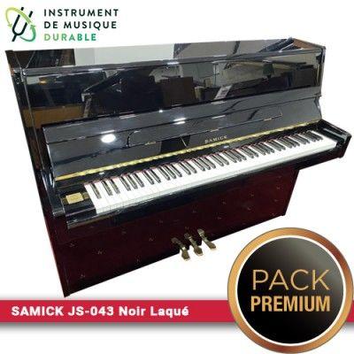 Piano d'étude SAMICK - JS-043 Noir Laqué  PACK PREMIUM INCLUT  2290 Levallois-Perret (92)
