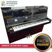 Piano d'étude SAMICK - JS-043 Noir Laqué |PACK PREMIUM INCLUT| 2290 Levallois-Perret (92)