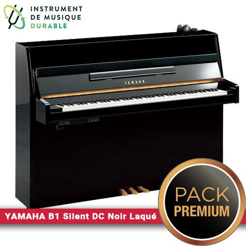 Piano d'étude YAMAHA - B1 Silent DC Noir laqué |PACK PREMIUM INCLUS| 4290 Levallois-Perret (92)