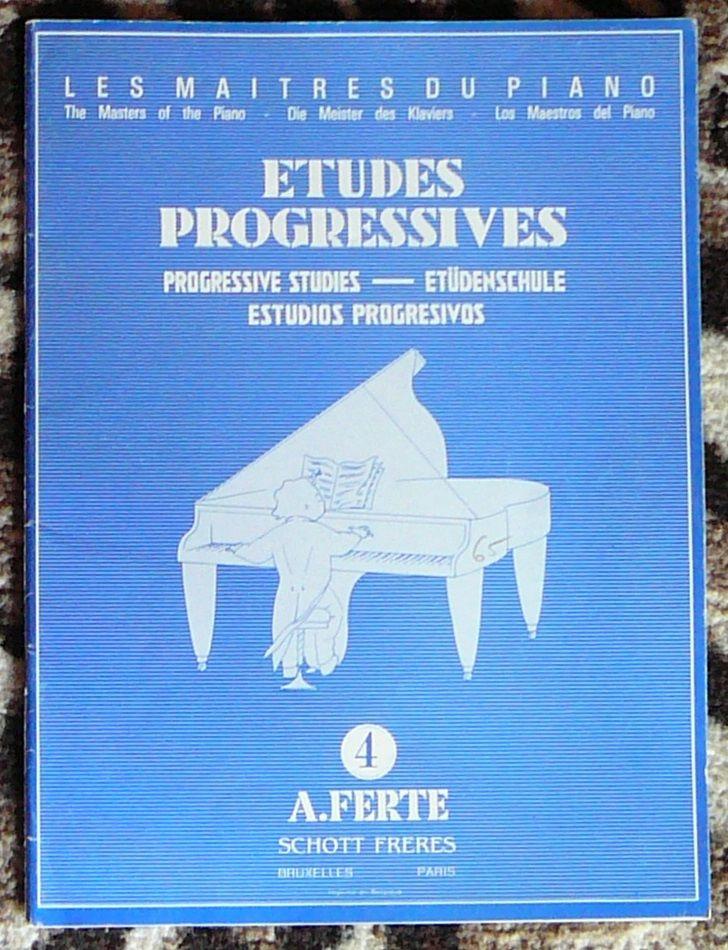 [piano] Études progressives n°4, Ferté, éd. Schott Frères 10 Lens (62)