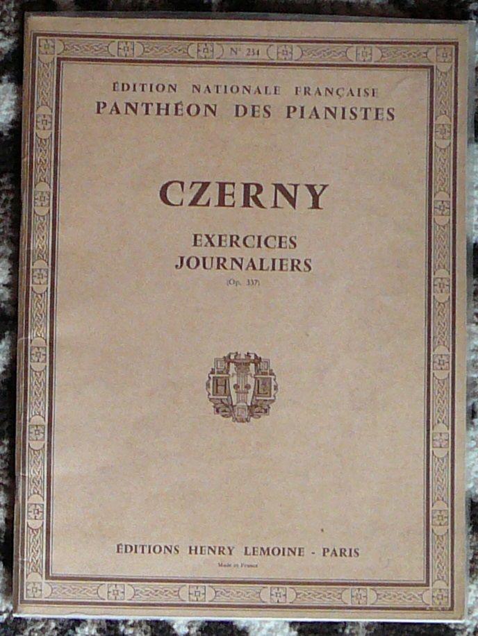 [piano] Exercices journaliers, opus 337 Czerny, éd. Lemoine 10 Lens (62)