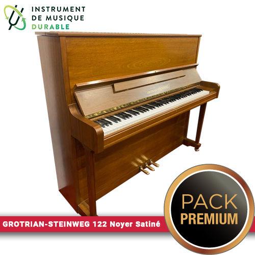 Piano d'expression GROTRIAN-STEINWEG 122 Noyer Satiné |PACK PREMIUM INCLUS| 7900 Levallois-Perret (92)