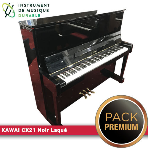 Piano d'expression KAWAI CX21 Noir Laqué |PACK PREMIUM INCLUS| 3900 Levallois-Perret (92)