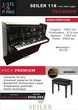 Piano d'expression SEILER 118 Noir Laqué |PACK PREMIUM INCLUS| Instruments de musique