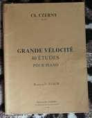 [piano] Grande vélocité, 40 études, opus 299 Czerny 8 Lens (62)