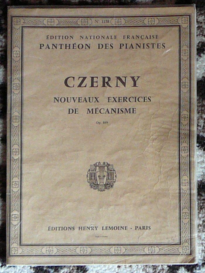 [piano] Nouveaux exercices de mécanisme, opus 849 Czerny 5 Lens (62)