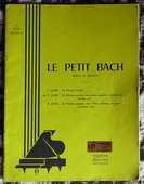 [piano] Le petit Bach n° 2, éd. Delrieu 15 Lens (62)