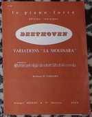 [piano] Variations sur la Molinara, Beethoven, éd. Delrieu 5 Lens (62)