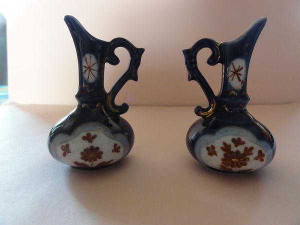 2 pichets miniatures bleu de four très anciens 20 Nanterre (92)