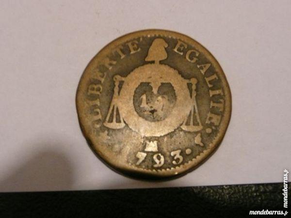 Pièce 1 Sol Aux Balances 1793 MA l'an II