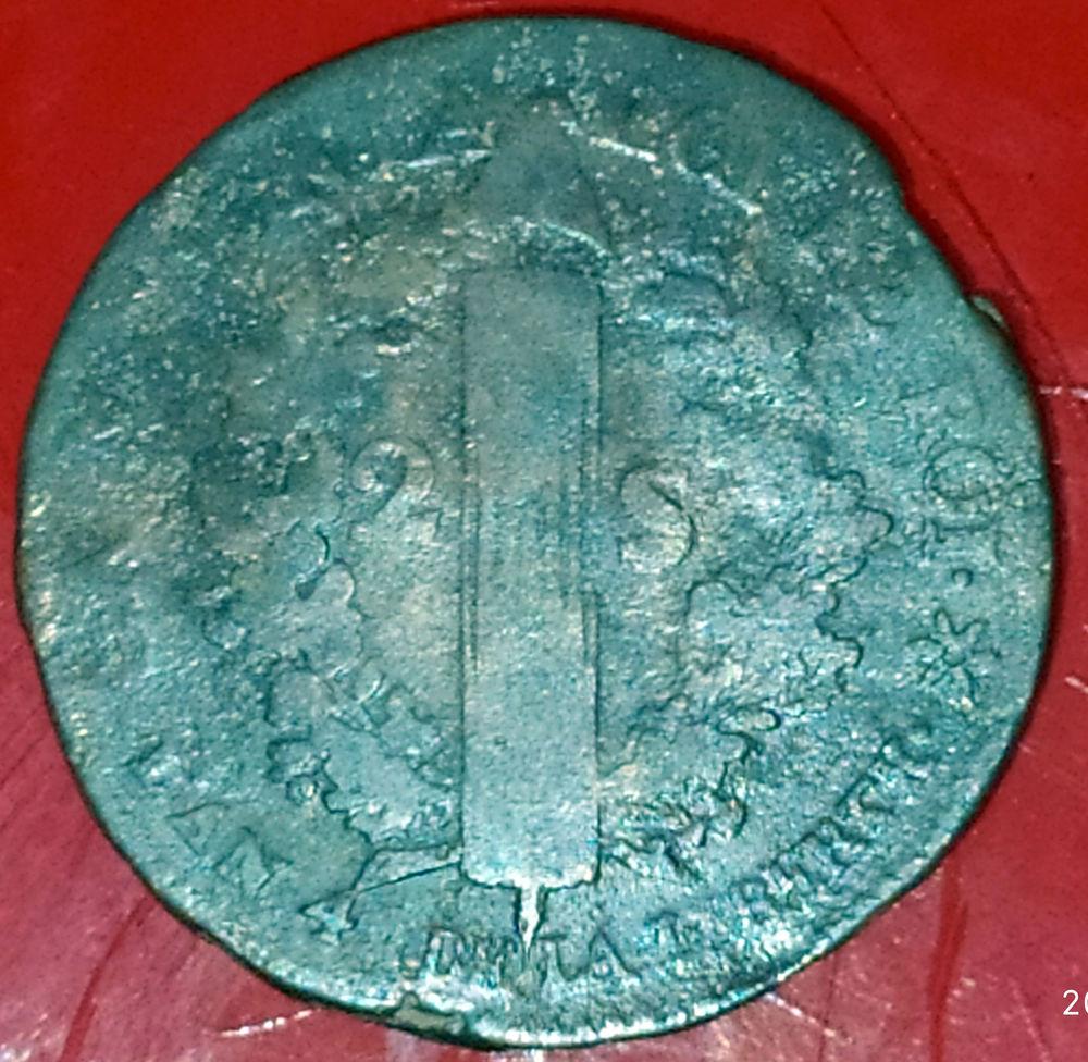 Pièce de deux sols An 4 de LA LIBERTE 1792