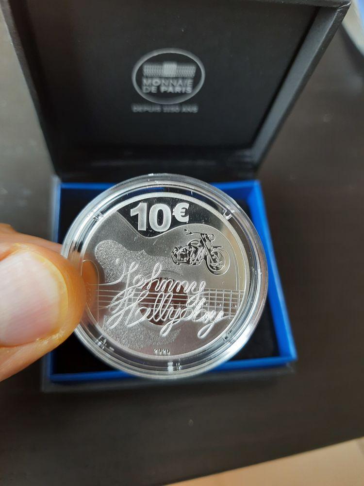 Piece 10 euro Argent JOHNNY HALLYDAY 300 Saint-Gaudens (31)