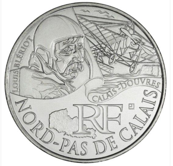 Pièce de 10 Euros argent Nord Pas de Calais année 2012 15 Hem (59)
