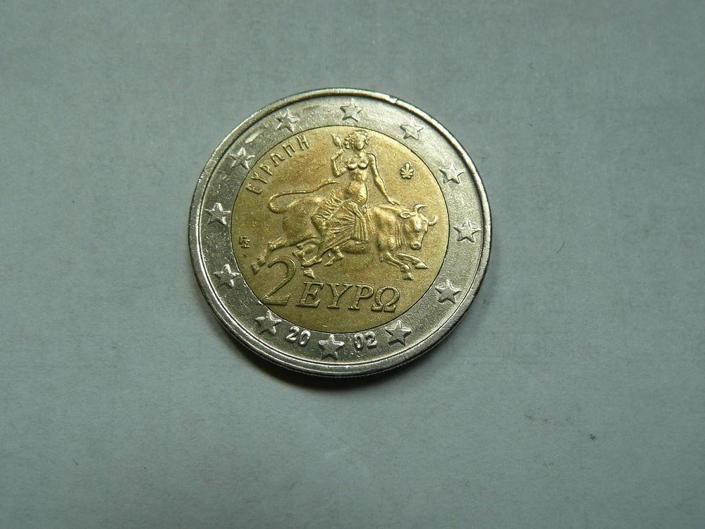 Pièce 2 euros Grèce 2002 1 Bordeaux (33)