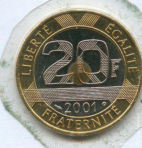 pièce de 20 Franc 2001 mont st Michel fer à cheval 10 Artagnan (65)
