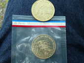 Pièce 25 francos 1985 ESSAI + 1 gratuite 1975 27 Bordeaux (33)