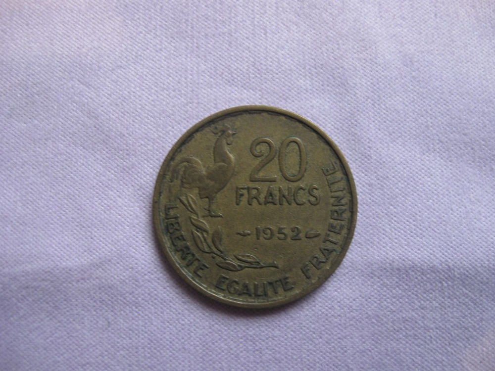 Pièce 20 Francs G. Giraud 1952 7 Mouans-Sartoux (06)