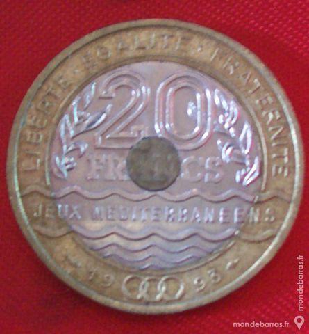 Pièce de 20 Francs Jeux Méditerranéens 1993. 15 Montreuil (93)