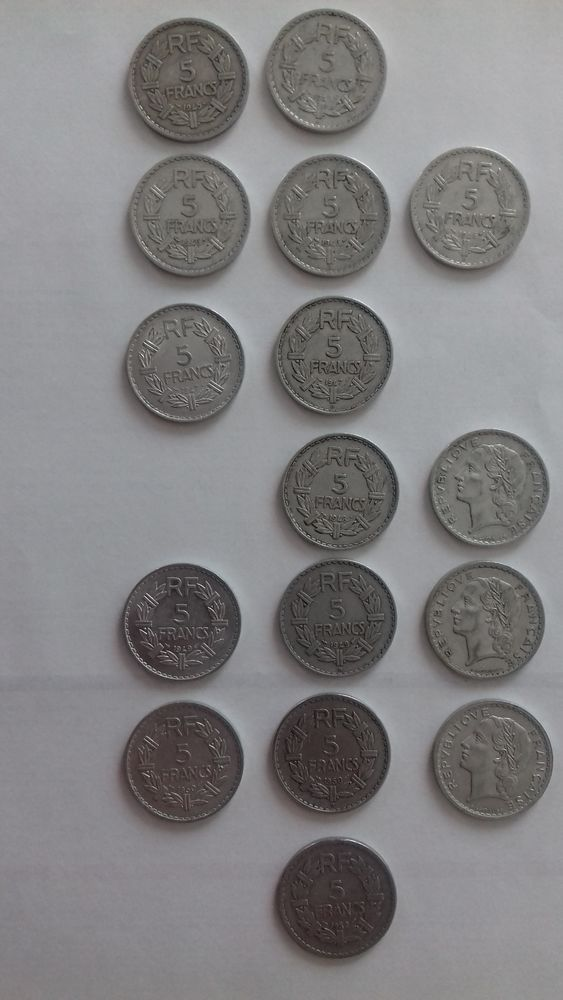 PIECE 5 FRANCS LAVRILLIER Aluminium 1945 à 1952 1 Éragny (95)
