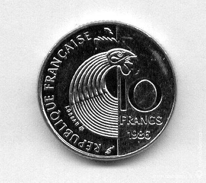 Pièce de 10 francs schuman  1986 17 Artagnan (65)