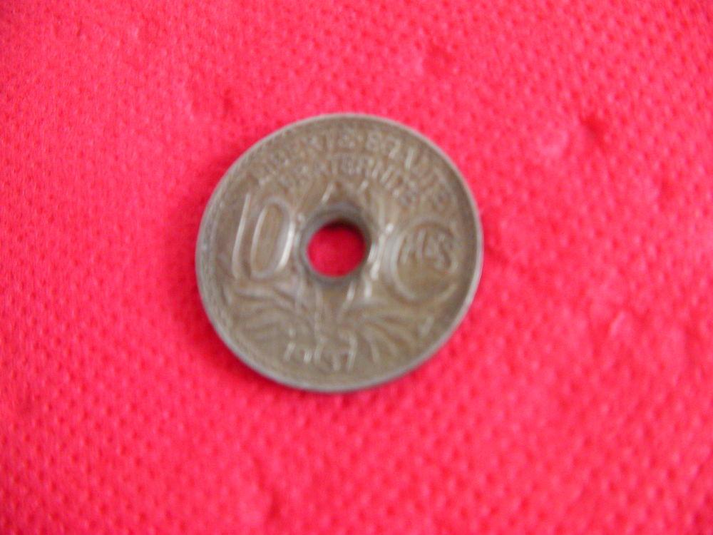 Pièce 10 cts de francs type LINDAUER - 1937 0 Saint-Etienne (42)