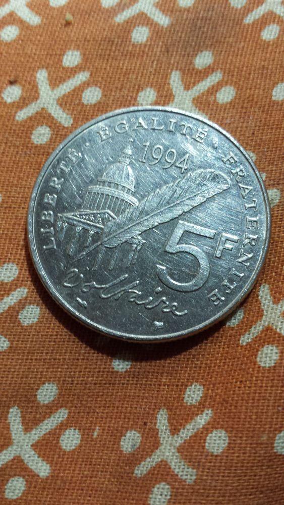 une piece 5 francs  voltaire  essai de  1994  80 Saint-Brieuc (22)