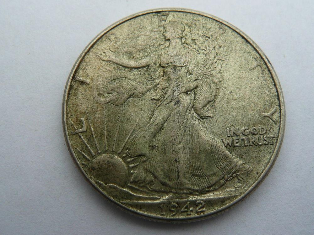 Pièce half dollar 1942 en argent  LIBERTY USA 20 Bordeaux (33)