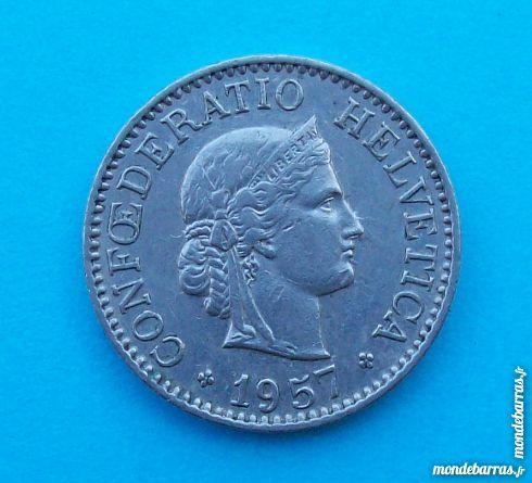 PIECE DE MONNAIE 10 CENTIMES SUISSE 1957 B 1 Wattignies (59)
