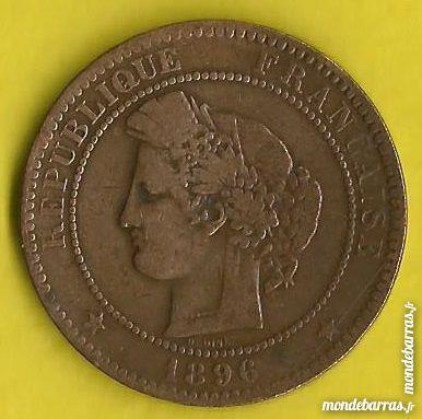 Pièce de monnaie 10 centimes Céres 1896 A 3 Isbergues (62)