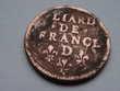 une pièce de monnaie liard de France