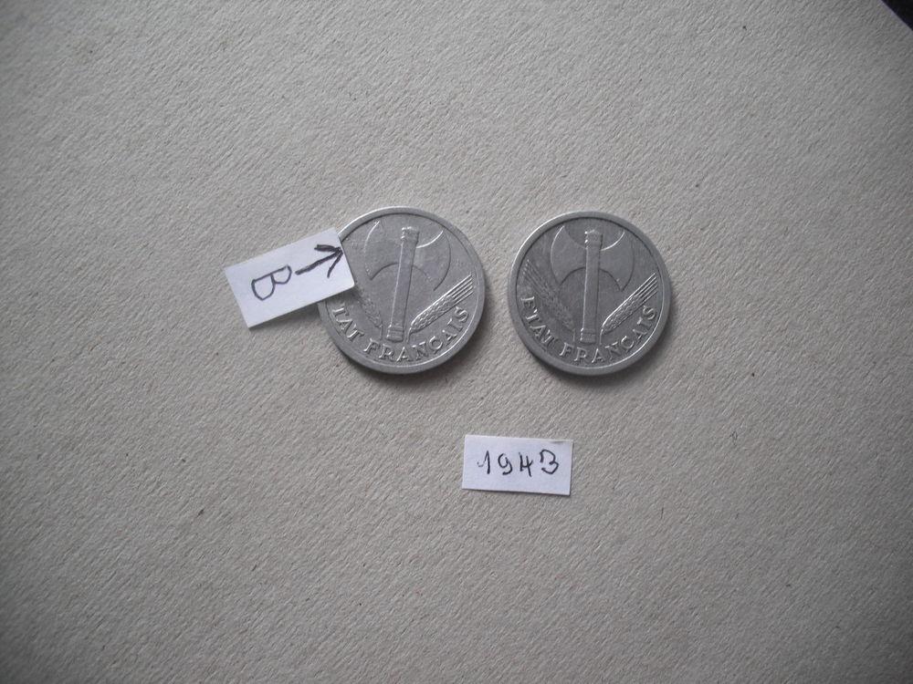 lot de  2 pièces de 2f  de 1944 15 Quillan (11)