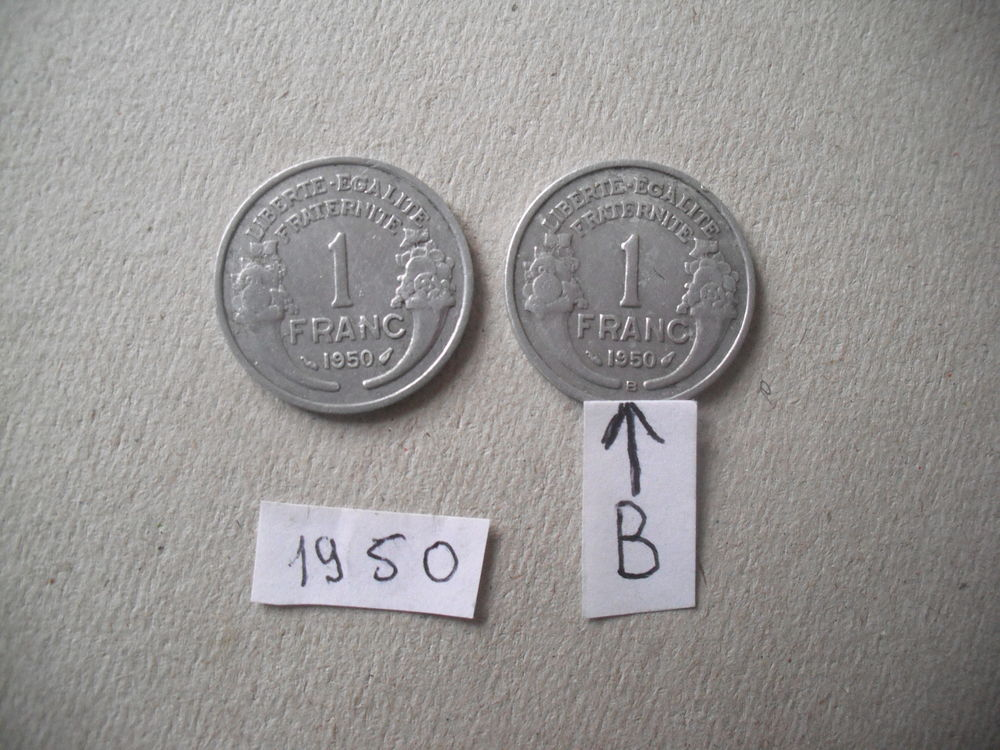 lot de 2 pièces de  1f de 1950 8 Quillan (11)