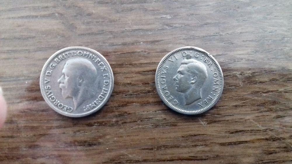 2 PIECES en ARGENT GRANDE BRETAGNE 1931 et 1945 3 Éragny (95)