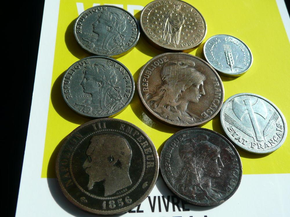Lot de 8 pièces divers Franc Française