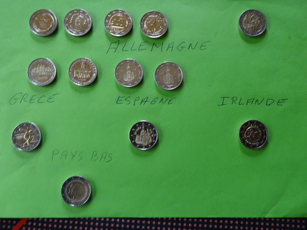 pièces de 2 euros commémorative EU 3 Merville (59)