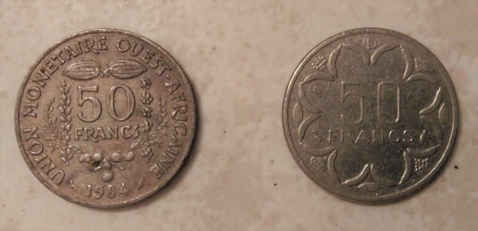 pièces 50 FRANCS Afrique  1984 1 euros l'unité 1 Marseille 9 (13)